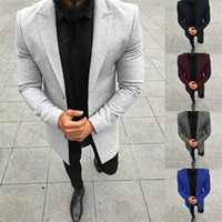 Solid Color Mens Designer Suits Fashion Panelled Straight Me...