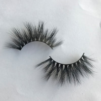 Lanflower 20mm Mink Eyelashes Thick Mink 3D Lashes Strip 3D Lashes 20mm Wispy For