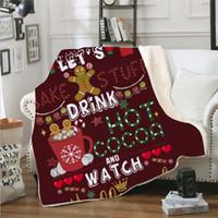 بطانية الشتاء عيد الميلاد لبس مقنع بطانيات للأطفال والكبار الحارة الديكور لينة الرئيسية رمي أريكة بطانية في الهواء الطلق أداة LXL586-1