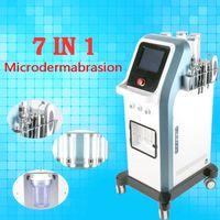 2019 Más nuevo 7 en 1 Israel Tecnología 8 Bar Oxígeno Chorro a presión Agua Dermoabrasión Hidra Facial Microcorriente Hidradermabrasión Oxgen Inyector DHL