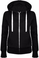 Толстовки Толстовка Дамы Женщины Мужчины пальто Top 5 новых цветов Unisex Plain Zip Up с капюшоном молнии