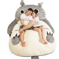 Dorimytrader Pop Anime Totoro Sacco a pelo morbido peluche grande fumetto tatami Beanbag materasso bambini e adulti regalo DY61004