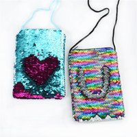 5Styles Mermaid Sequins Coin Purse With Lanyard mermaid Coin...