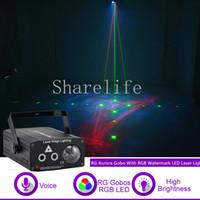 Sharelife البسيطة rg gobos أورورا الليزر مختلط rgb led مائية ضوء الليزر للمنزل الحفلة dj المرحلة إضاءة الصوت السيارات 512