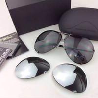 2019 حار بيع للتبادل 8478 نظارات استبدال عدسة الرجال أو النساء أزياء uv400 حماية الطيران نظارات الشمس tmall