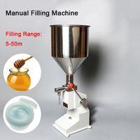 Manuelle Nahrungsabfüllmaschine 1-50ml Handdruck rostfreie Paste Flüssigkeitsverpackungsmaschinen Creme Öl Münzausgabeautomaten Abstich