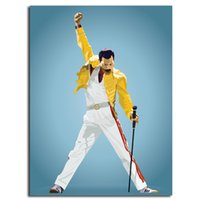 Freddie Mercury Queen Glossy HD Poster Canvas Painting Oil F...