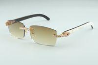 أحدث 3524012-13 النظارات الشمسية التي لا نهاية لها الماس، قرون مختلطة طبيعية، للرجال والنساء نظارات إنفينيتي، الحجم: 56-36-18-140mm