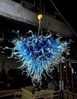 Alta calidad Interior de la casa de Lihgt colgante especial Diseño Azul Dale Chihuly barato pequeña lámpara de cristal soplado Luz