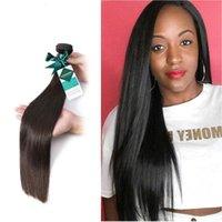 Doğal Renk Uzun Perulu Saç Düz İnsan Saç Dokuma 3 Paketler İşlenmemiş Ham Bakire Saç 8-30 inç