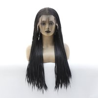 African American Braided Wigs Cheap With Baby Hair Glueless ...
