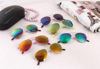 STF 키즈 선글라스 relective 미러 아이들은 아이들 타원형 태양 안경 패션 아이 여름 썬 블록 안경 K5283 선글라스