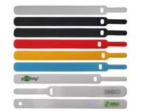 Cabo de cintagem de fita de nylon laços reutilizável organizador do cordão portador de guarda-titular clipe laços para fones de ouvido fones de ouvido telefones wrap wrap managemen
