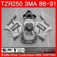 본체 YAMAHA TZR250 3MA TZR 250 RS RR YPVS 그레이 화이트 핫 TZR250RR 118HM.102 TZR-250 88 89 90 91 TZR250 1988 1989 1990 1991 페어링 키트