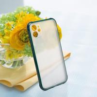 2020 Pro Max SE iPhone 11 için Renk Kaplama Darbeye Tampon Mat sert PC Cep Telefonu arka kapak ile telefon kılıfı Yumuşak TPU