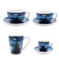 Европа Ван Гог звездное небо Кофейные чашки и блюдца Знаменитые картины Художественные кружки Керамическая чашка для капучино чашка для пудинга Латте чашка для чая