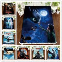 Horror Dragon Throw Blanket 3D Nightingale Bed Sheet Polyest...