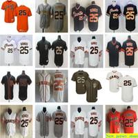 Personalizado 2019 homens mulheres juventude 25 Barry ligações jersey costuradas flexbase sn fo tells jerseys 1989 retrô fresco base branco cinza laranja preto