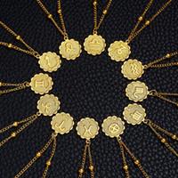 12 Constellations Collana Leo Aries Taurus Gemelli Cancer Virgo Bilancia Scorpione Sagittario Capricorno Acquario Pesci Pesci Gold Pendant Collane