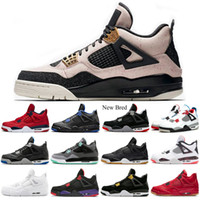 New Bred 4 LASER- Black Gum 4s Basketball Shoes men Pure- Mone...