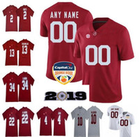 Personnalisé 2019 Alabama Crimson Tide Maillots De Football Hommes Femmes Jeunesse Taille S - 4XL 5XL Devonta Smith Henry Ruggs Quinnen Williams Tagovailoa
