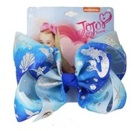 "new 8"" Large JoJo swia Mermaid Ombre Ribbon Hair Bows F..."