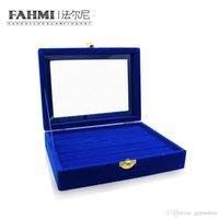 FAHMI 원래 매력 링 투명에 가까운 블루 디스플레이 상자 보석 보호 선물 세련된 미니멀리즘의 단순 디스플레이 박스 공장