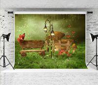 Traum 7x5ft Märchen Garten-Fotografie-Hintergrund Grün Fantasie Landschaft Foto Hintergrund für Kinder Fotograf Schießen Booth Studio Prop