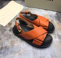 2020 Sandales Boutique simple luxe noble fond épais en peau d'agneau Gladiator de chaussures en cuir dames orteils exposés de sexy creux sandales occasionnels