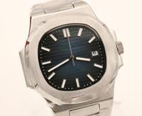 Горячий продавец часы высокого качества автоматические мужские часы синий циферблат сапфир из нержавеющей стали Прозрачное стекло назад мужские часы