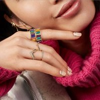 Victoria Wieck Meistverkaufte Neue Arrial Luxus Schmuck 18 Karat Gold Füllen Volle Prinzessin Cut Bunte Topas CZ Diamant Edelsteine Ehering Ring