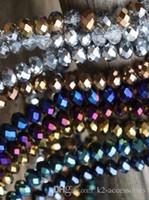 500pcs / lot 6MM AB متعدد الألوان الخرز الزجاجي المعداد الأوجه PLATED AB الألوان DIY صنع المجوهرات