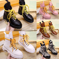 2019 winter new Women lace up designer boots Martin Boot LEA...