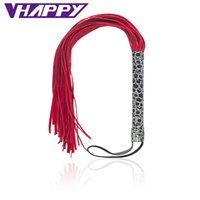 50cm Genuine Leather Flogger Whip With Abundant Tails Red Fl...