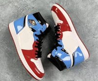 Mens Designers 1 High OG Fearless First Class Red Blue Classic Zapatillas de baloncesto 1S UNC Chicago Sports Sneakers Charol