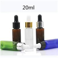 10ml / 15ml / 20ml Bernstein Blau PET-Flaschen mit Glas Dropper nachfüllbar Tropfflasche wesentliches Öl-Flasche Probe Make-up Vials leeren
