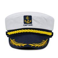 de Cap Naval Unisex algodão militares Chapéus Moda Cosplay capitão de mar Caps Chapéus do Exército para as Mulheres Homens Meninos Meninas Sailor Chapéus Atacado