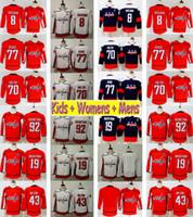 2018 Youth Washington Capitals 77 TJ Oshie 8 Alex Ovechkin Bradten Holtby Evgeny Kuznetsov Nicklas Backstrom Tom Wilson Kinder Hockey Jersey