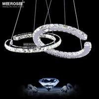 LED de diamante moderna Pendant luminária LED candelabro de cristal Iluminação Lustres Lâmpada de suspensão para um jantar Sala Sala de transporte rápido