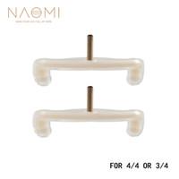 NAOMI 4/4 Violon Épaule Reste Pieds 2PCS Épaule Reste Jambes Pieds Blanc Remplacements Pour 4/4 3/4 Violon Partie Accessoires