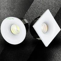 미니 노블 LED 스포트라이트 COB 다운 라이트 디 밍 쥬얼리 내각 110 / 220V 천장 매입 형 감추고 전시 왕조 조명 무료 배송
