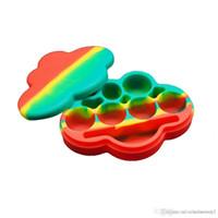 1шт 85мл большое облако форма разных цветов силиконовый контейнер для мазков круглой формы силиконовые контейнеры воск силиконовые банки Dab контейнеры