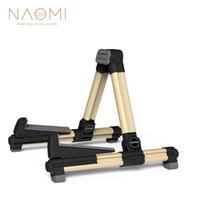 NAOMI AGS-08 Stand de guitare électrique Stand réglable en alliage d'aluminium A-Frame Stand Gold Guitar Parts
