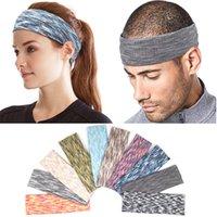 Yoga Bandeaux Sport élastique Bandeaux Sport Yoga Accessoires de danse Biker large bandeau extensible ruban coton Hairband