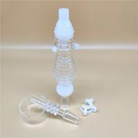 뜨거운 인기있는 새로운 웨이브 꿀 Collectorx 세트 14 미리 메터 석영 네일 플라스틱 커넥터 유리 그릇 밀짚 유리 봉