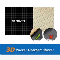 2шт 220*220 мм/235*235 мм/300*300 мм матовый HeatBed наклейка парник лист для CR-10 Wanhao i3 Anet A8 Ender-3 3D-принтер частей