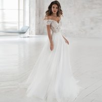 Gorgeous Off- shoulder Lace Wedding Dresses 2019 Custom Made ...