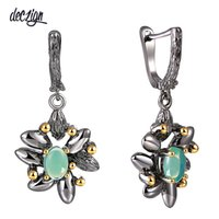 Deczign Vintage Flower Earrings Women Wedding Party Simulate...