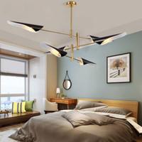 Avize Aydınlatma Nordic Designer's Choice Post Modern Kolye Lambaları Yaratıcı Beyaz / Siyah Abajur Avize Lamba AC 90-260 V