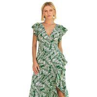 2019 New Pattern Summer Printing V Lead Feifei Sleeve Chalaza Dress On  Vacation Sen Woman Irregular Longuette 9720462f7